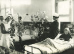 Decorating a children's ward, 1920s